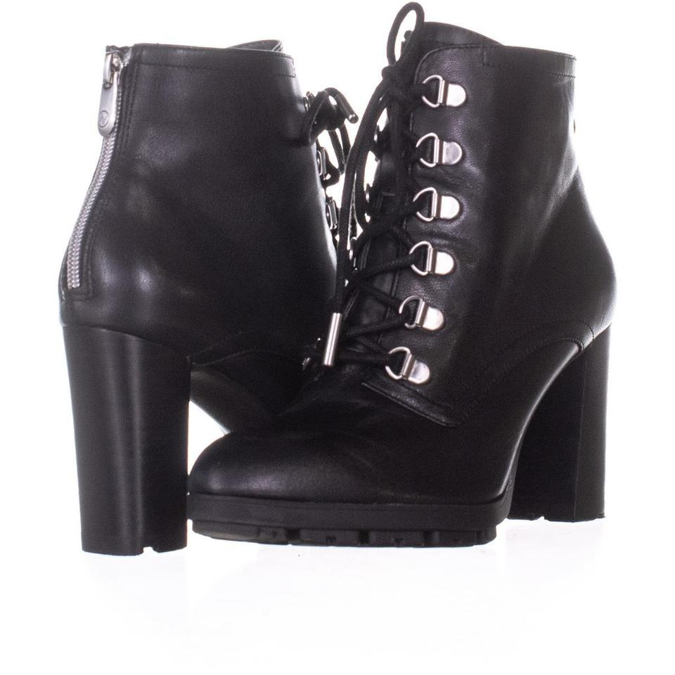 e8a6786d70c Adrienne Vittadini Black Thad Lace Up Ankle 142 Leather Boots/Booties Size  US 6.5 Regular (M, B) 66% off retail