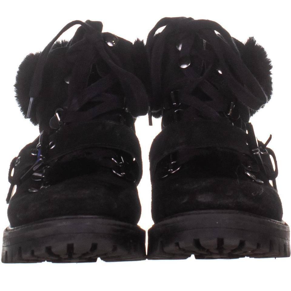 4be2e72f9 Kendall + Kylie Black Edison Combat 055 Boots/Booties Size US 8 ...
