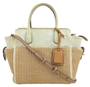 Reed Krakoff Gold Hardware Tote in White/Ivory