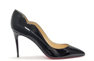 Christian Louboutin Decollete Hot Chick Hot Chick 85 Patent Black Pumps