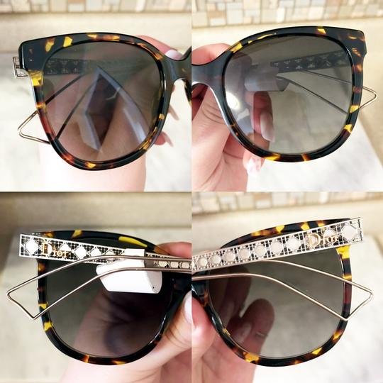 61327461686f Dior NWT New Diorama3 Brown Tortoise Shell Hollow Arm Gradient Sunglasses  Image 2
