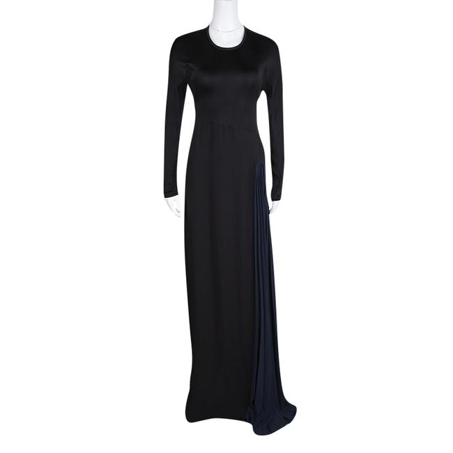 Black Maxi Dress by ISSA London Contrast Detail Image 2