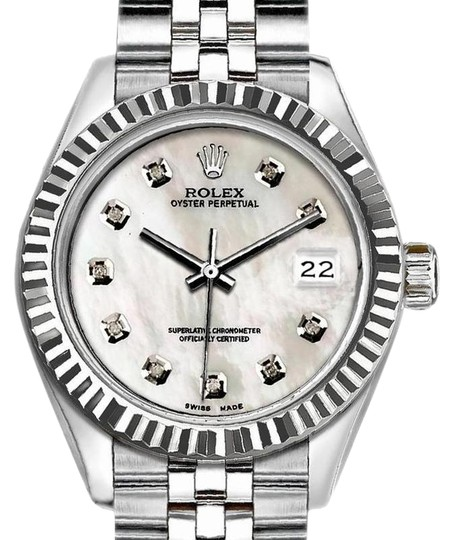 Preload https://img-static.tradesy.com/item/25016880/rolex-white-and-silver-ladies-26mm-datejust-with-diamond-mother-of-pearl-dial-wat-watch-0-1-540-540.jpg