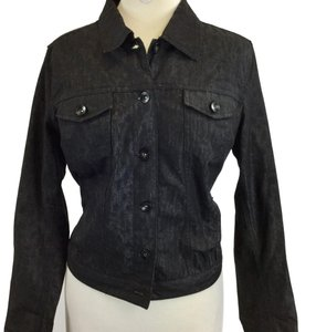 New Directions Black Womens Jean Jacket