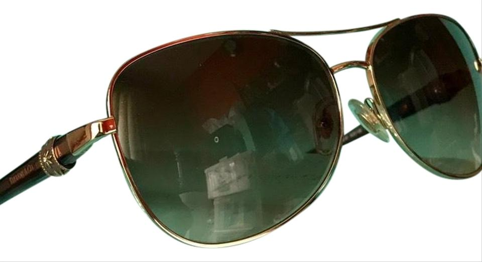 7bc52973c0bc Tiffany   Co. Aviator Brown and Gold Frames W Flowers Tf3036 W  Case  Sunglasses