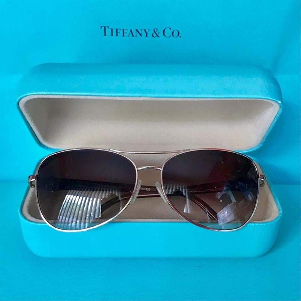 bfecd152718c Tiffany   Co. Aviator Brown and Gold Frames W Flowers Tf3036 W  Case ...