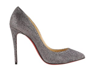 Christian Louboutin Lurex Heels Pointed Toe Wedding Silver Pumps