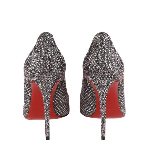 Christian Louboutin Lurex Heels Pointed Toe Wedding Silver Pumps Image 3
