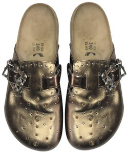 Birkenstock Studded Bronze, Brown Mules