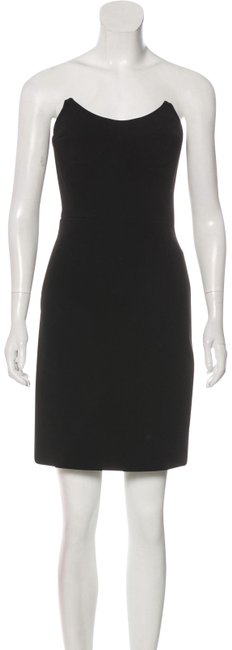 Item - Black Prada Strapless Corset Bustier Mid-length Cocktail Dress Size 6 (S)