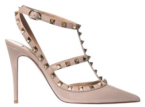 d413cc2249c Valentino Silver Rockstud Ankle Strap T.100 In Elk Print Patent ...