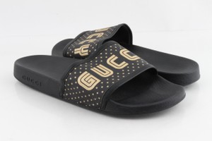 "Gucci Multicolor Supreme Canvas ""Guccy"" Stars Slides Shoes"