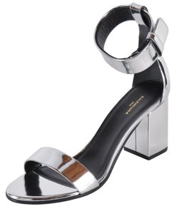 Balenciaga Ville Handbag Purse Silver Sandals