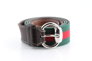 Gucci Gucci Horsebit Web Belt