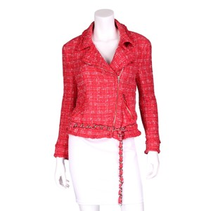 Chanel Chain Boucle Tweed Moto Motorcycle Jacket