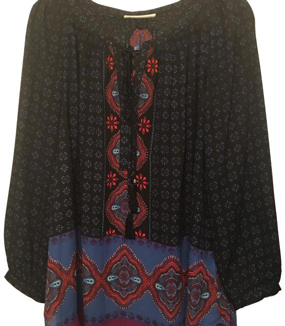 Item - Black Multi 3/4 Sleeve Tunic Blouse Size 20 (Plus 1x)
