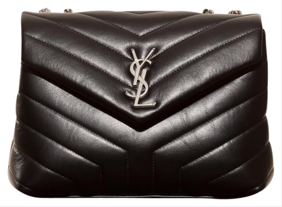 0b5e48637f Saint Laurent Monogram Loulou Ysl Monogram Small Chain Black Leather ...