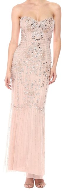Item - Blush Beaded Gown Long Formal Dress Size 6 (S)