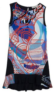 Emilio Pucci Crepe Sleeveless Shift Dress