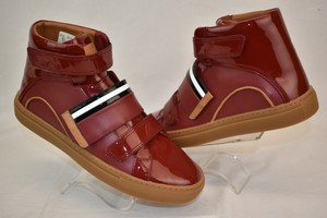 Bally Red Herick White Blue Leather Hi Top Stripe Logo Sneakers 8.5 Us 41.5 Shoes
