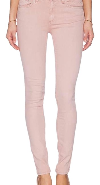 Item - Blush Pink Distressed Bone/Jean In Rose Color Skinny Jeans Size 6 (S, 28)
