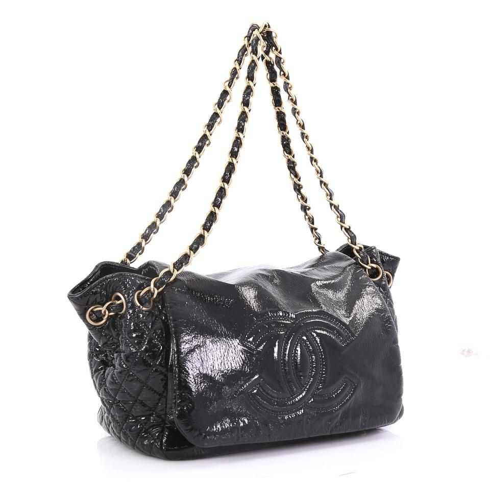 43a64f473673 Chanel Classic Flap Rock and Chain Accordion Vinyl Small Black ...