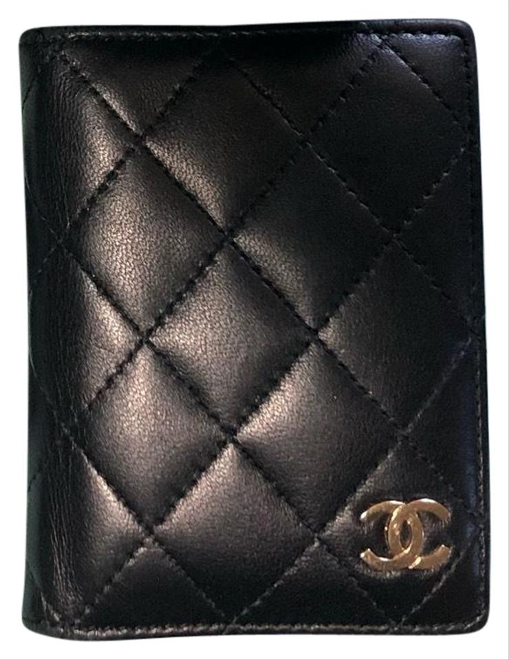 a8bf89224f5b Chanel Black Lambskin Quilted Card Holder Wallet - Tradesy