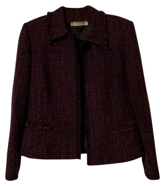 Item - Purple Tweed Jacket Blazer Size 10 (M)