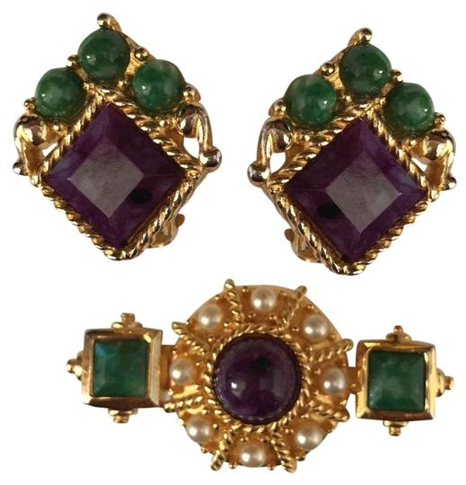 Preload https://img-static.tradesy.com/item/25018405/gold-jade-amethyst-pearl-pinearrings-earrings-0-1-540-540.jpg