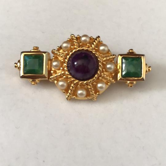 Other Jade Amethyst Pearl Pin/Earrings Image 1
