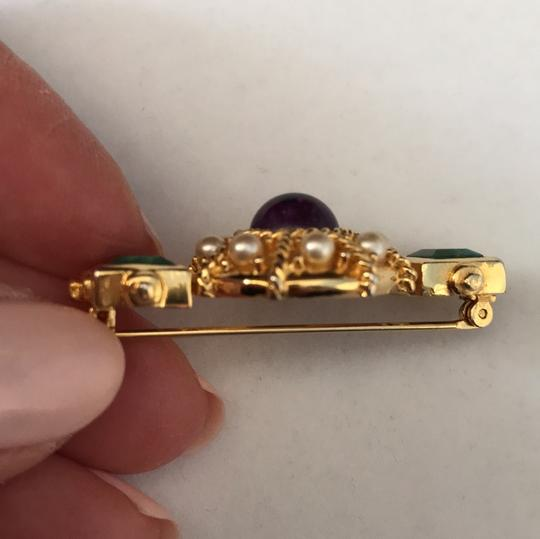 Other Jade Amethyst Pearl Pin/Earrings Image 3