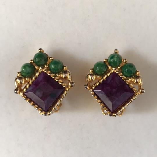 Other Jade Amethyst Pearl Pin/Earrings Image 4