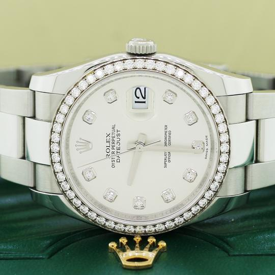 Rolex Datejust Factory Diamond Dial & Bezel White Gold/SS 36mm Box Papers Image 1