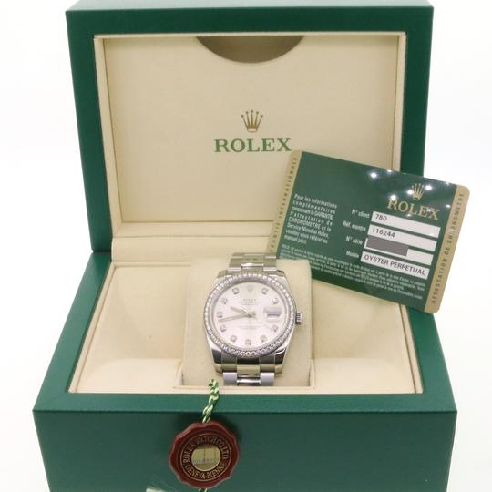 Rolex Datejust Factory Diamond Dial & Bezel White Gold/SS 36mm Box Papers Image 2