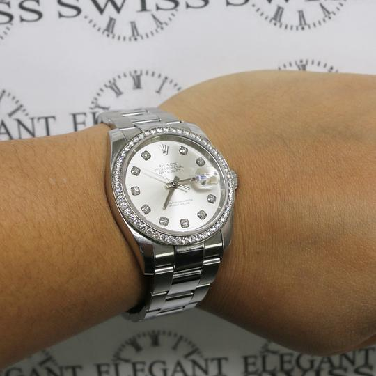 Rolex Datejust Factory Diamond Dial & Bezel White Gold/SS 36mm Box Papers Image 3