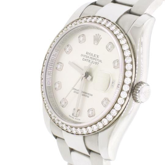 Rolex Datejust Factory Diamond Dial & Bezel White Gold/SS 36mm Box Papers Image 7