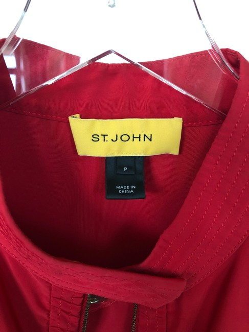St. John Windbreaker Lightweight Casual Fuchsia Jacket Image 6