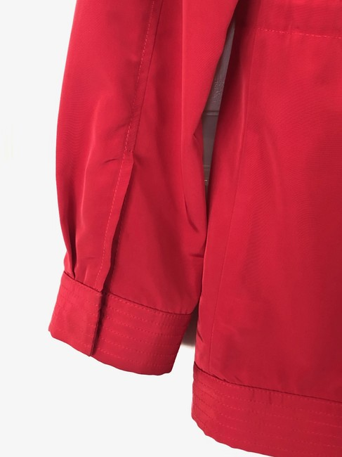 St. John Windbreaker Lightweight Casual Fuchsia Jacket Image 7