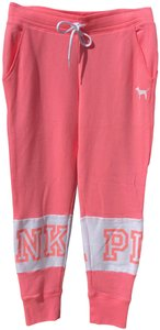 PINK Athletic Pants Pink and white