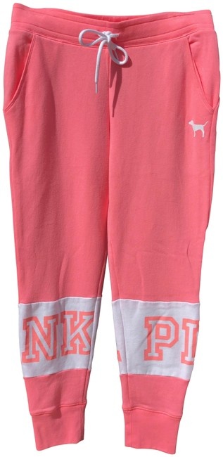 Preload https://item4.tradesy.com/images/pink-and-white-classic-jogger-pants-size-8-m-29-30-25018418-0-1.jpg?width=400&height=650