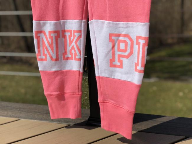 PINK Athletic Pants Pink and white Image 1