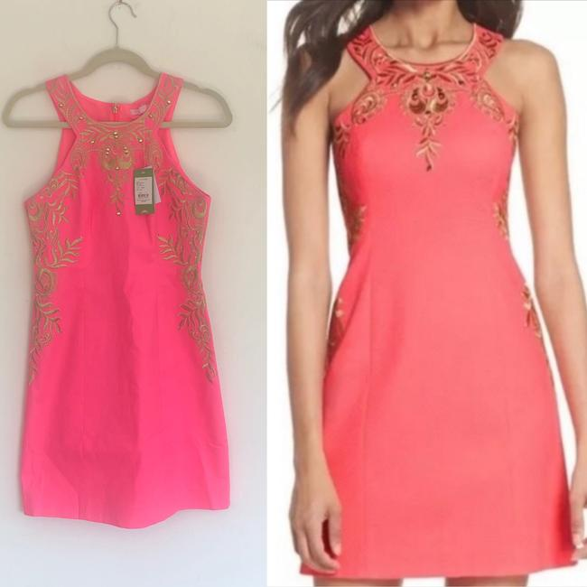 Lilly Pulitzer Embellished Embroidered Shift Halter Dress Image 1