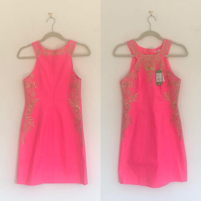 Lilly Pulitzer Embellished Embroidered Shift Halter Dress Image 2