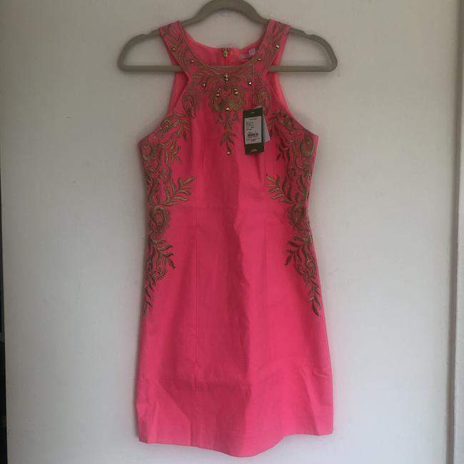 Lilly Pulitzer Embellished Embroidered Shift Halter Dress Image 4