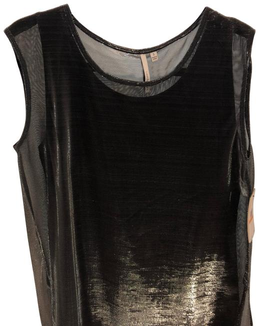 Item - Silver & Black And Stylish Tank Top/Cami Size 4 (S)