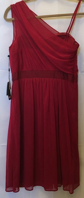 Adrianna Papell One Shoulder Chiffon Sweetheart Neckline New With Tags Dress Image 7