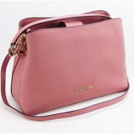 Michael Kors Portia Tote Satchel in ROSE PINK Image 3