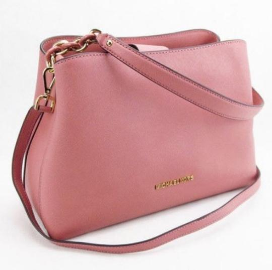Michael Kors Portia Tote Satchel in ROSE PINK Image 4