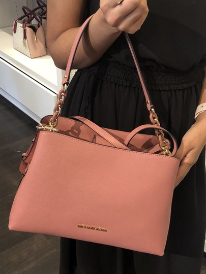 Michael Kors Portia Tote Satchel in ROSE PINK Image 9