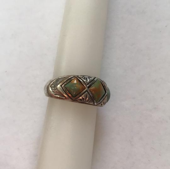 Other Southwestern Sterling Turquoise Ring Image 3